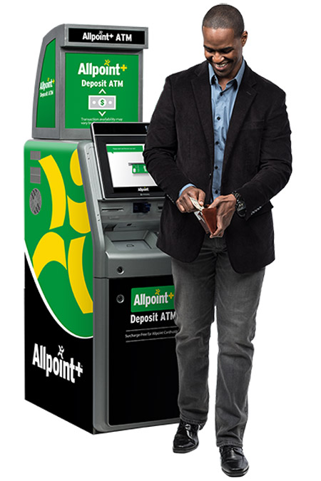 Man using Allpoint ATM